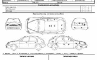 Акт приемки автомобиля в сервисный центр