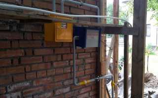 Установка газового счётчика в частном доме