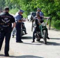 Штрафы за непостановку на учет мотоцикла