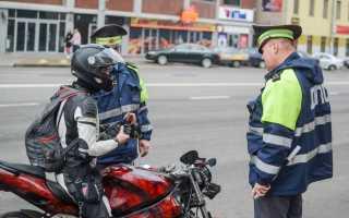Штраф за управления мотоциклом без прав